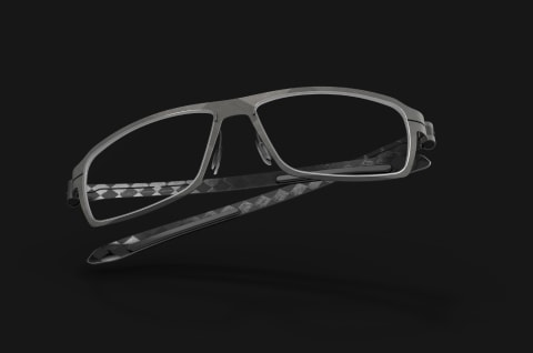 ultra light carbon eyewear frame with ergonimic temples
