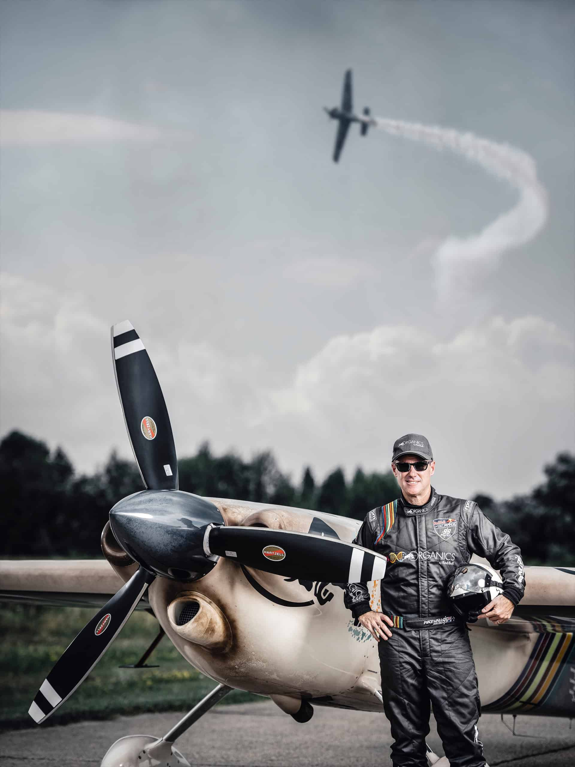 Matt Hall with Kerl Eyewear flying plane Budapest Airrace
