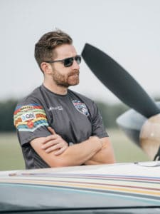 Red Bull Manager Matt Hall wearing CARB-005 in sun