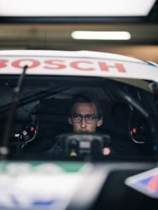 Ferdinand Habsburg in racing car with Kerl Eyewear